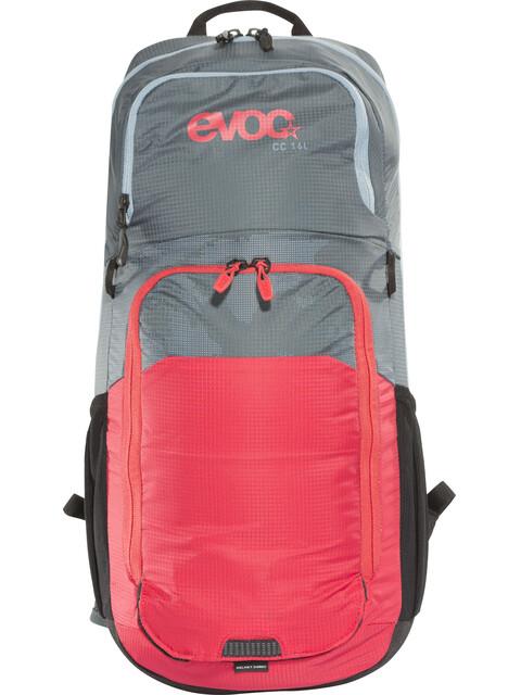 EVOC CC Lite Performance Backpack 16l + 2l Bladder slate-red